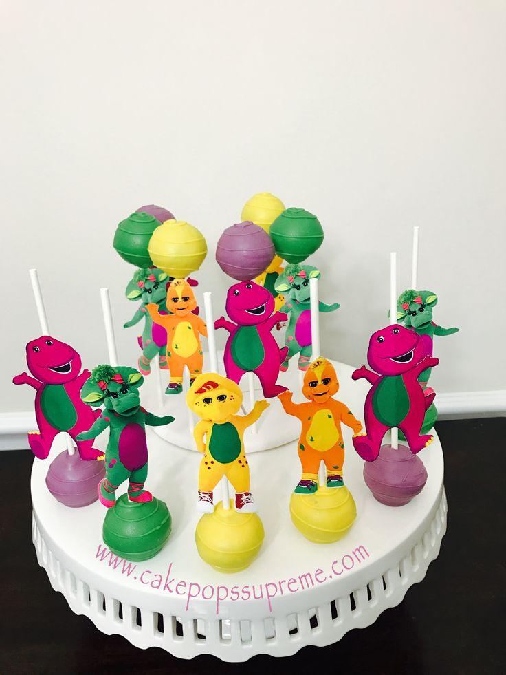 barney cake pops - photo #6
