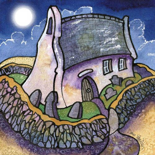 Perigee moon, Mwnt by Dorian Spencer Davies