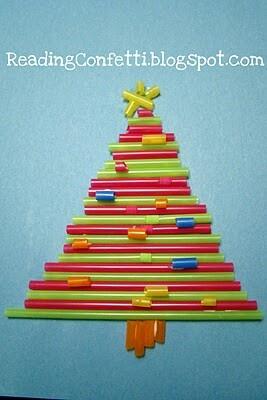Arbre de nadal fet amb canyetes