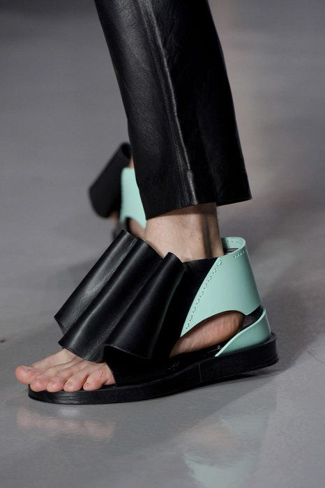 These pleated mandals happened at Kay Kwok.