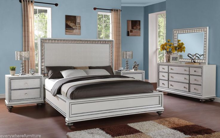 mirrored king bed wynwood glam white mirrored king size mansion bed bedroom 12428