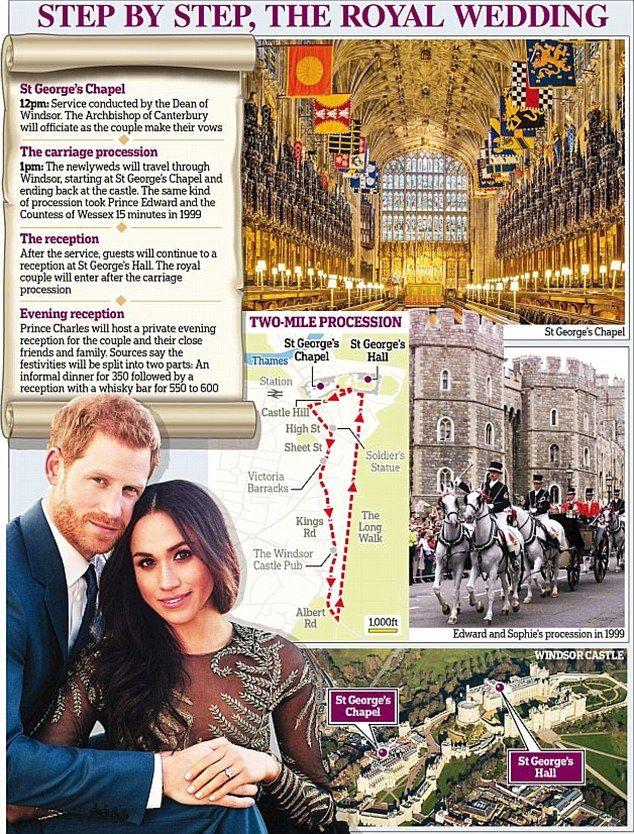 The royal couple will marry at St George's Chapel in Windsor Castle on May 19, with millions of people expected to watch around the world.