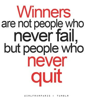 People who never quit...