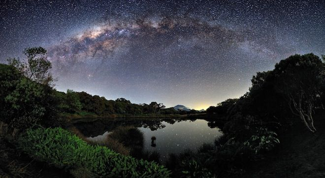 The Milky Way View from the Piton de l'Eau, Reunion Island - simply breathtaking!  Photograph by Luc Perrot
