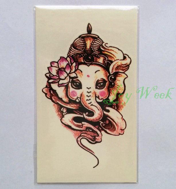 Купить Водонепроницаемый временные татуировки стикер для девочки слон татуировки тотем переброска воды поддельные тату флэш татуировки для женщини другие товары категории Временные татуировкив магазине Joy weekнаAliExpress. Временные татуировки