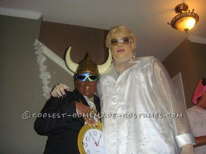 Coolest Flavor Flav and Brigitte Nielsen Couple Costume OMG I wish RYAN would do this!!