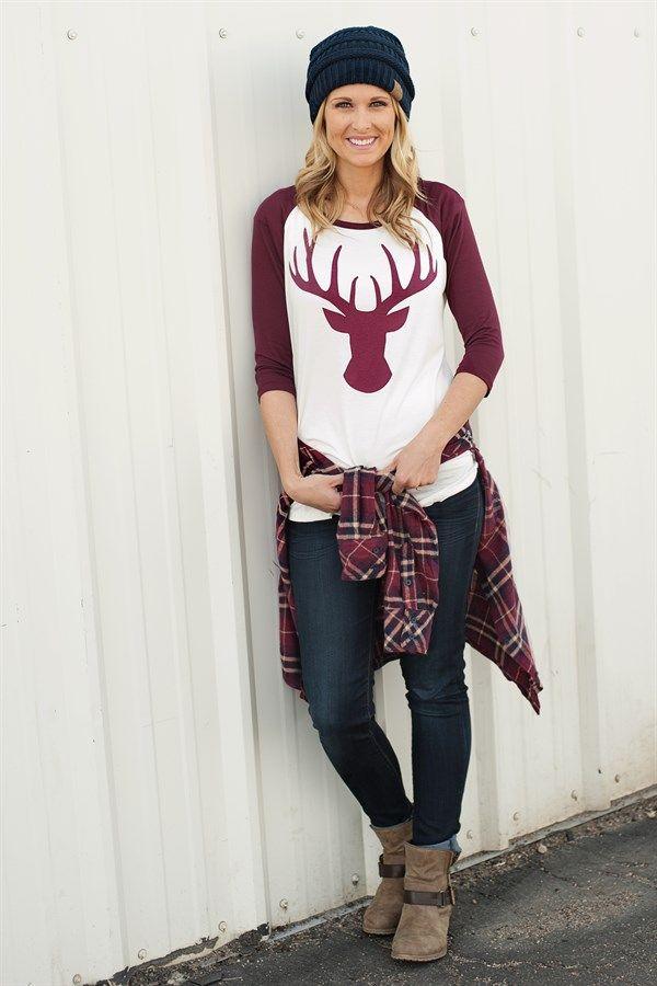 Reindeer Baseball Tees | Jane