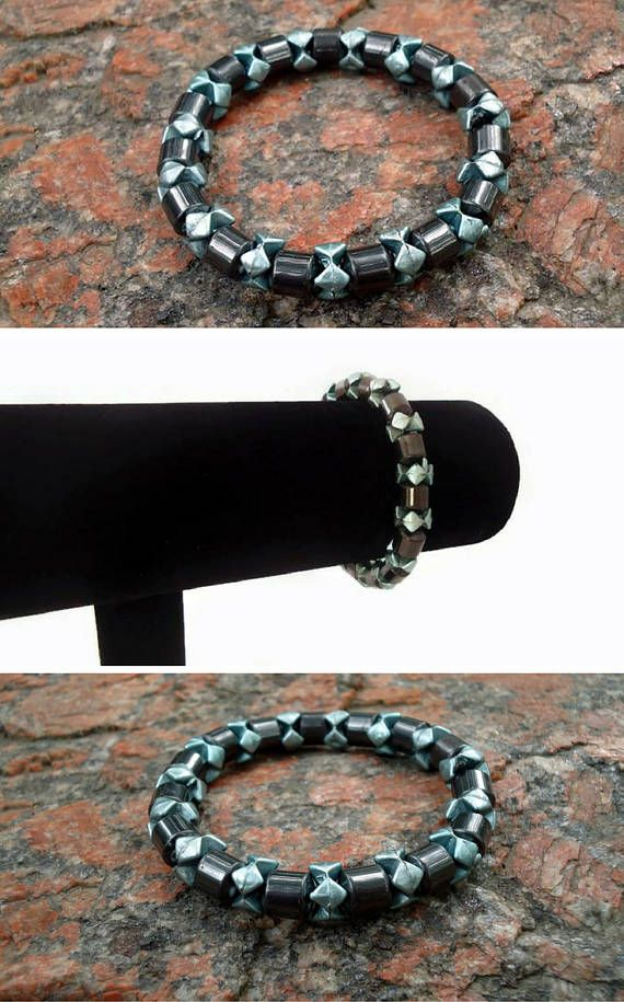 $18.92 Mens gift Healing bracelet gift for her Hematite Women bracelet healing stone Unisex bracelet jewelry Healing Everyday jewelry Birthday