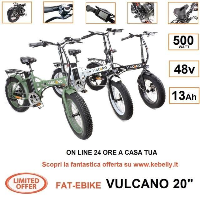 Bicicletta Elettrica Fat Bike 20 Pieghevole Vulcano V242 500w 48v
