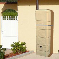 Regenwasser Wandtank beige 300 Liter + Anschlusskit gratis