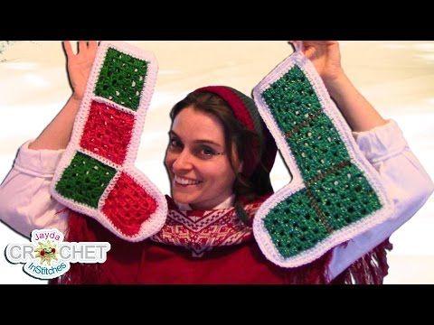 Vintage Granny Square Christmas Stocking - YouTube