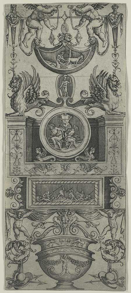 Agostino Veneziano (Agostino dei Musi): Ornamental Panel (49.95.41)   Heilbrunn Timeline of Art History   The Metropolitan Museum of Art