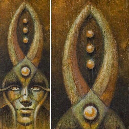 Gaia Óleo sobre panel de madera. 17,5 cms. X 50 cms.  #artwork #oilonpanelboard #oilpainting #lifestyle #gaia #robledoarte