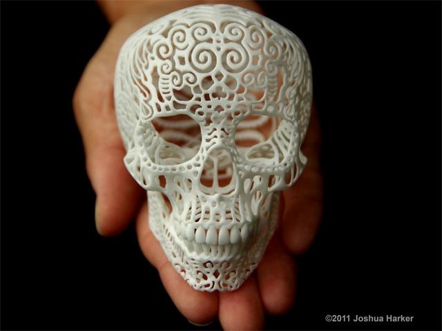 Crania Anatomica Filigre: Skulls, Joshua Harker, Sculpture Projects, Anatomical Filigr, 3Dprint, Crania Anatomic, Art, 3D Prints, Filigr Skull