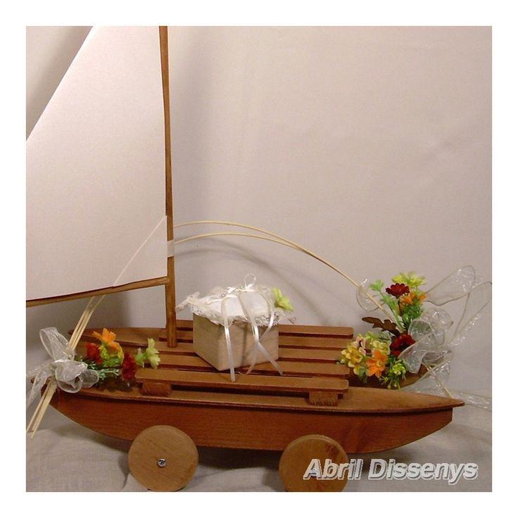 Barco de Marquetería para Anillos Otoño