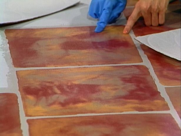 painted cement floor   How To Paint a Faux Terra Cotta Floor : How-To : DIY Network