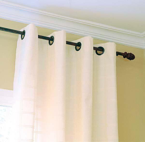 Las 25 mejores ideas sobre colgar las cortinas en - Formas de cortinas ...