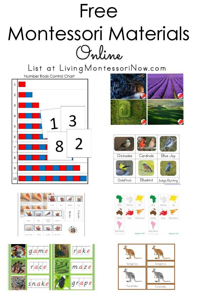 Free Printables For Montessori Homeschools And Preschools Montessori Activities Preschool Montessori Lessons Montessori Preschool