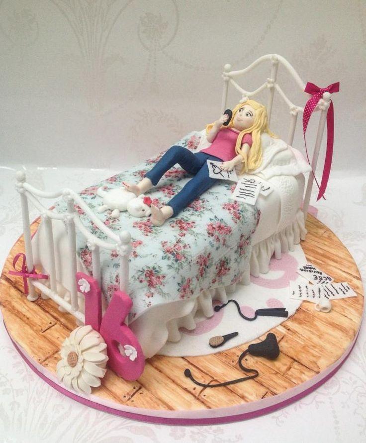 Pastel para una chica adolescente.