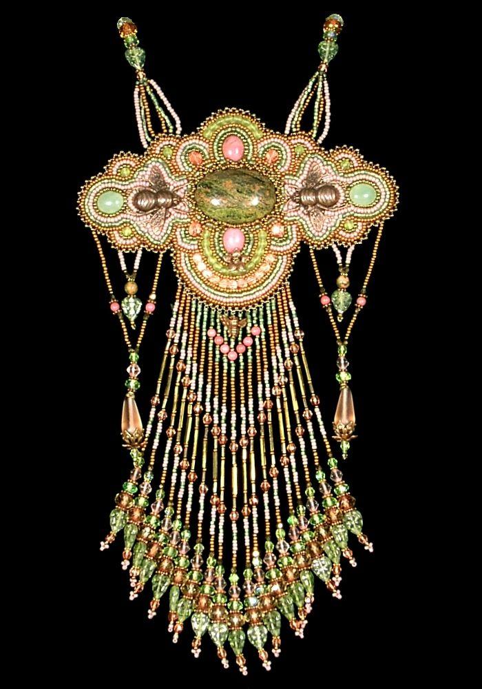 Best beadwork tutorial cabouchon pendants rivoli