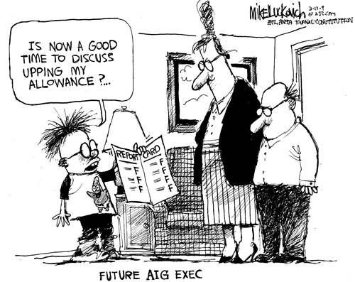 Funny Political Cartoons | Future AIG Exec - Funny Political Cartoon