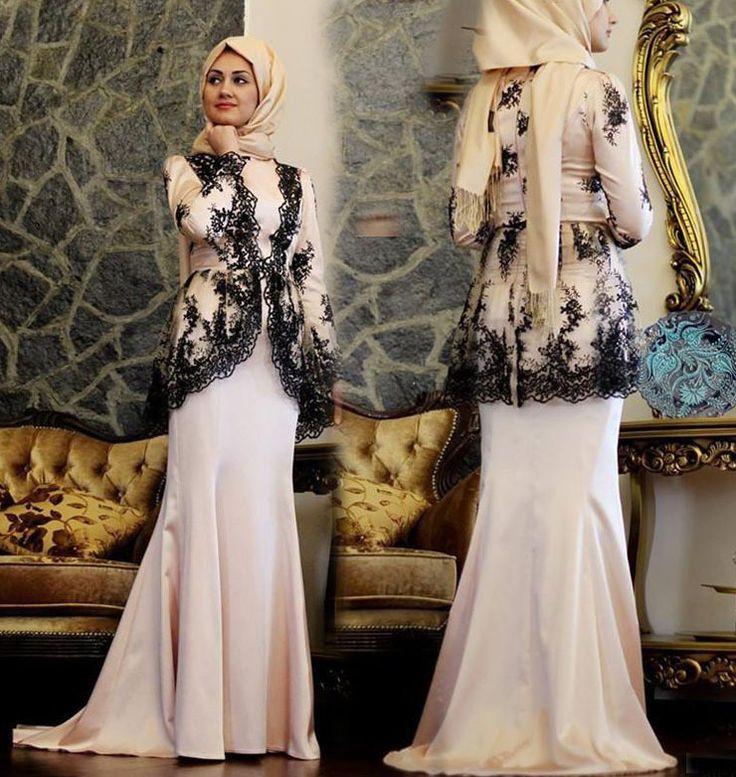 Robe Dentelle Noir Manche Longue Hijab 2015