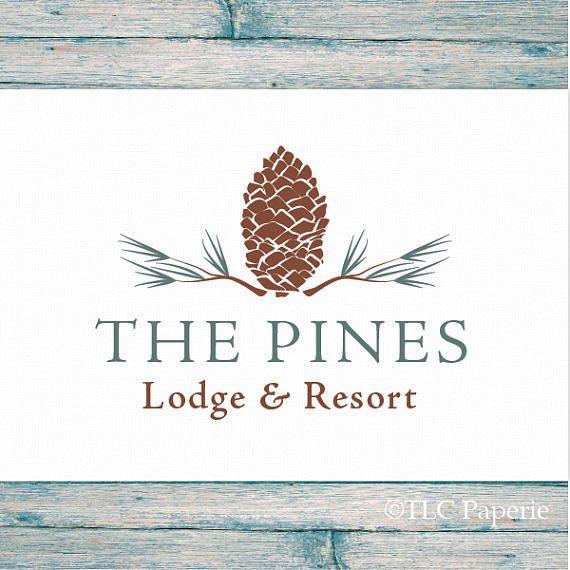 Kiefer Kegel-Logo Pine Tree Logo Tannennadeln Wald-Logo