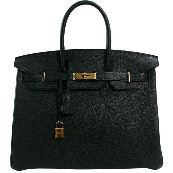 Hermès Black Togo 35 cm Birkin Bag with Gold Hardware (550 830 UAH) ❤ liked on Polyvore featuring bags, handbags, bolsas, hermes, purses, handbag purse, leather purses, genuine leather purse, leather bags and hand bags