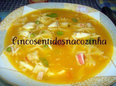 Receitas - Sopa de peixe com ervilhas e delicias do mar - Petiscos.com