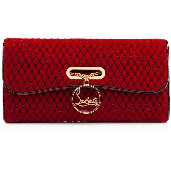 Christian Louboutin Riviera Capitonne Strass Clutch found on Polyvore
