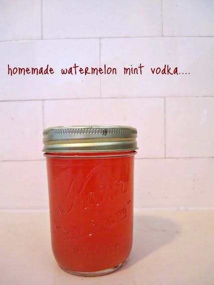JellyBones: DIY Watermelon mint infused vodka