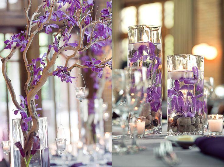 Wisteria Style Centerpieces Purple Weddings Pinterest You Think Purple Centerpiece And