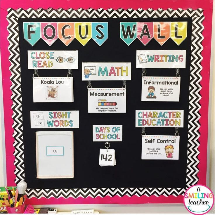 Our focus wall is one of my favorite places in our classroom! The command hooks make it easy to flip to the next topic. The cards and headers are completely EDITABLE so they can be customized for any classroom.