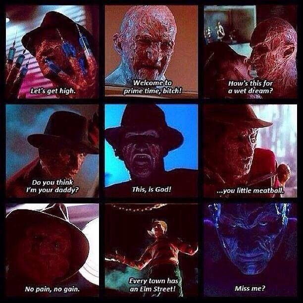 One liners from Freddy | Oh the horror! in 2019 | Horror ...