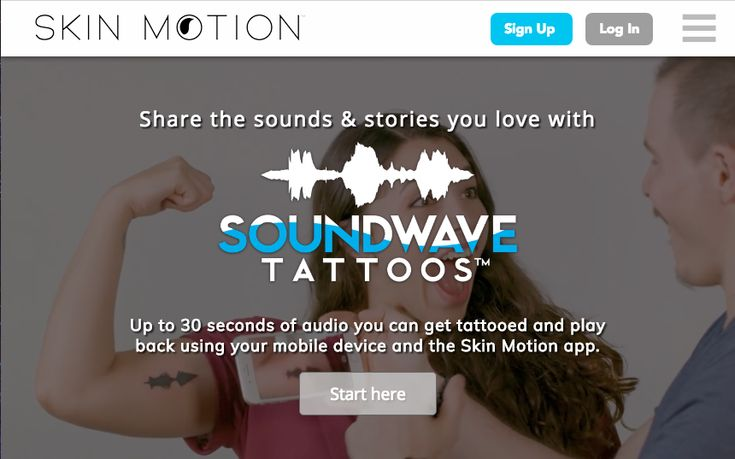 Create your own Soundwave Tattoos™ and play them back using the Skin Motion app
