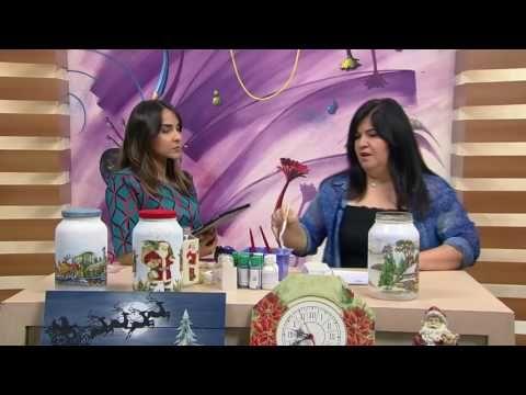 Mulher.com - 31/10/2016 - Potes de vidro de Natal com decoupage - Célia Bonomi  P2 - YouTube