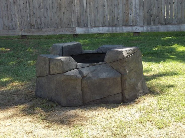 Hand Carved Cement : Hand carved concrete fire pit pits ideas