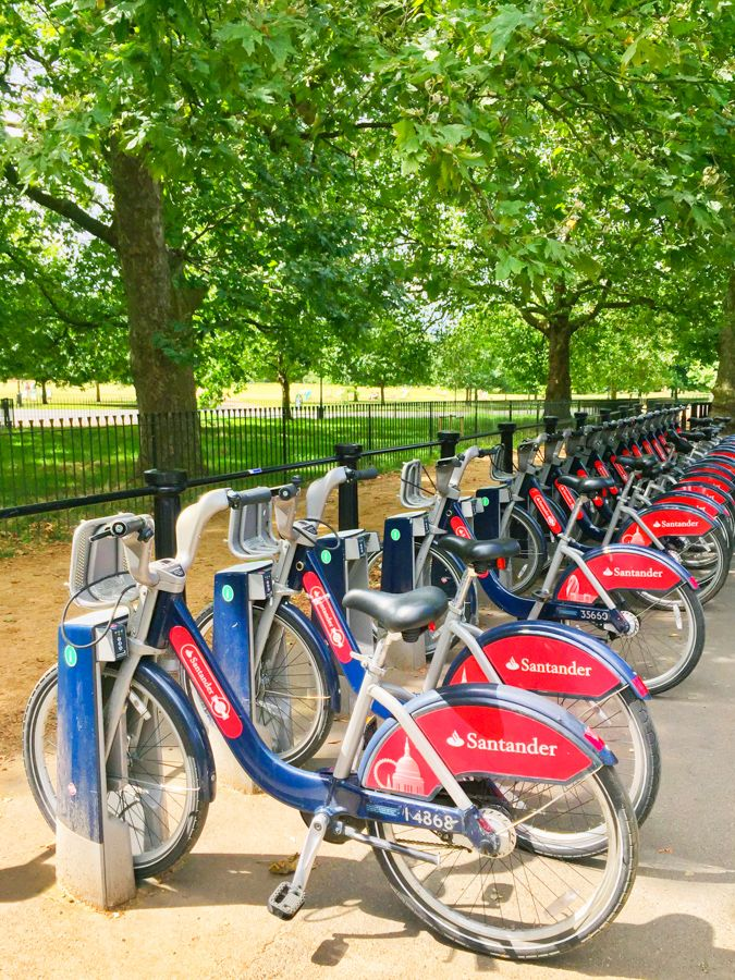 When visiting London rent a bike at one of the many kiosks around the city. by…