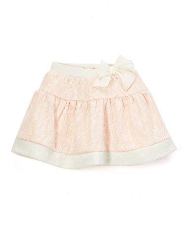 $7.99! Look what I found on #zulily! Pink Lace Skirt - Toddler & Girls #zulilyfinds