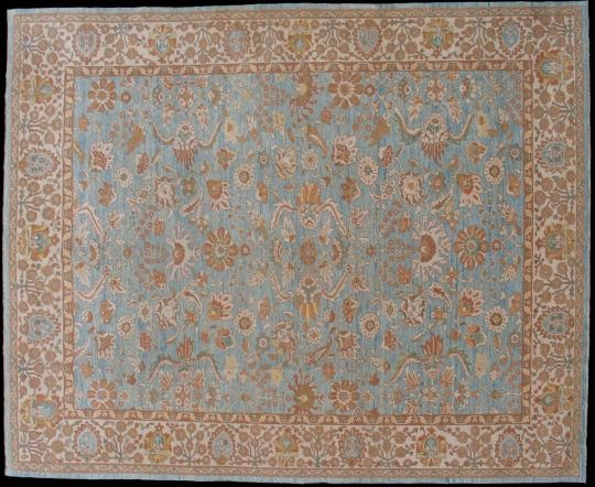 Ziegler Design Contemporary A Fantastic Quality Modern Carpet Made Using Hand Spun Wool And Vegetable Dyes Pale Blue Have Been Used To Make
