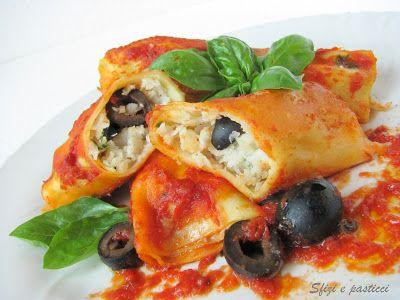 Cannelloni ripieni con nasello e olive
