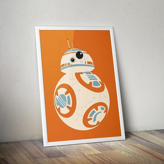 Star Wars Inspired Poster Print | BB-8 | Wall Art | Videogame Art | Minimalist