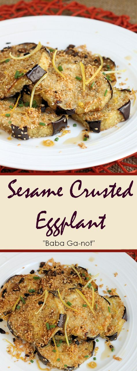 """I wanted to do a little something different with my eggplant this time. Sesame Crusted Eggplant with Lemon and Garlic is what I came up with. I guess you could say it is sort of a cutlet form of baba ganoush, but obviously the results are quite different, hence baba ga""""not"""". The recipe is really …"""