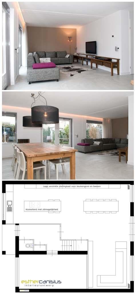 Groundplan livingroom kitchen interior design architecture for Interieur ontwerpers
