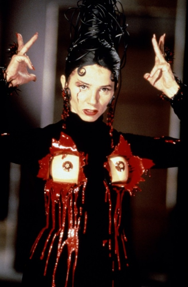 Victoria Abril wearing Gaultier in Almodovar's Kika.