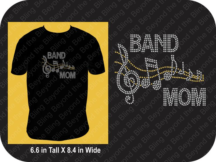 Bling band Mom shirt rhinestone band mom shirt band mom bling shirt band mom rhinestone bling shirt marching band mom music bling shirt mom by BeyondtheBlingUSA on Etsy