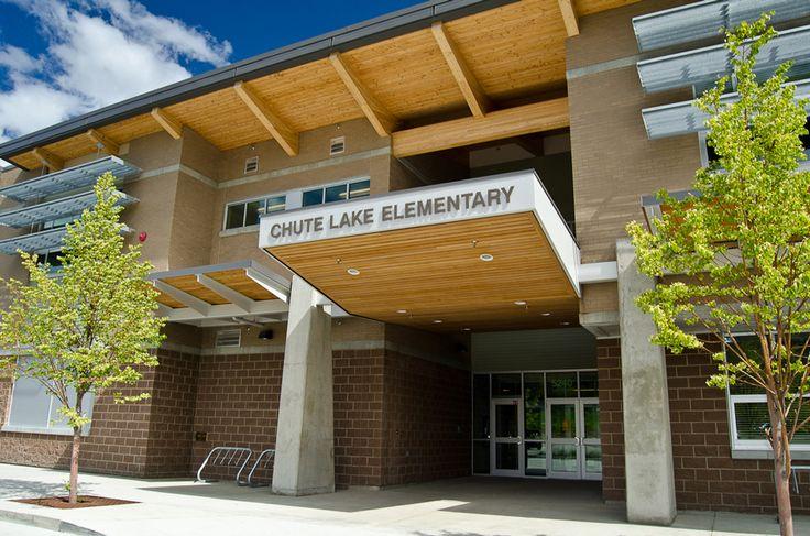 Chute Lake Elementary School, main entrance, Kelowna, BC, Canada
