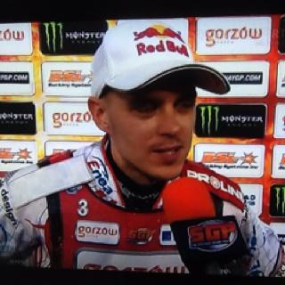 W TSMie także krótka rozmowa z Jarosławem Hampelem i gratulacje  za zajecie 2 miejsca GP Nowej Zelandii