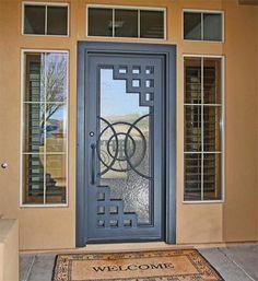 Resultado de imagen para puertas de madera modernas con vidrio