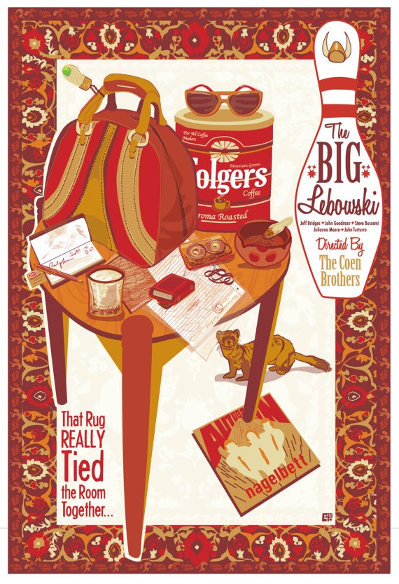 The Big Lebowski Movie Poster I'm The Dude So by CuteStreakDesigns, $30.00